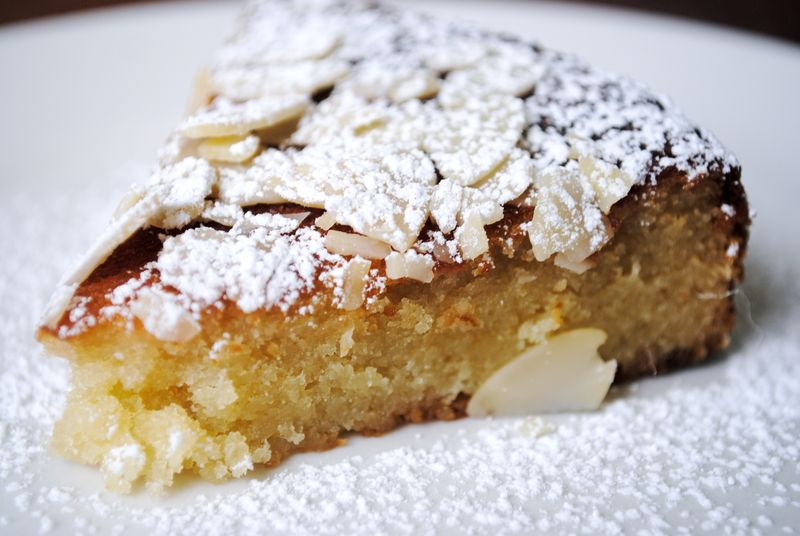 Bouchon's Almond Cake with Strawberry Compote - Spork or Foon?
